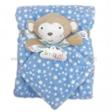 Q17645: Baby Boys Monkey Comforter & Blanket