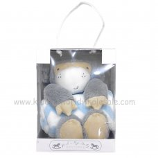 Q17819: Baby Boys Monkey Soft Toy & Blanket In A Box