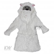 Sheep Hooded Sherpa Fleece Dressing Gown (2-6 Years)
