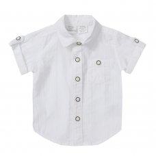 KC146: Baby Boys Short Sleeve Woven Shirt (0-24 Months)