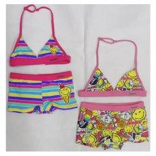 SM1: Girls Smiley Short Bikini (6-12 Years)