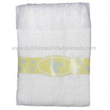 White Trellis Weave Shawl