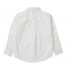 KC143: Infant Boys Long Sleeve All Over Print Woven Shirt (2-5 Years)