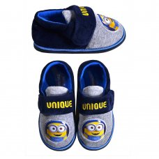 MN1: Kids Minions Slippers (Kids Shoe Sizes: 6-12)
