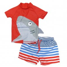 NX51: Infant Boys Shark 2 Piece Swim Suit (9 Months - 6 Years)