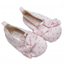 SN753: Baby Girls All Over Print Shoes (3-12 Months)