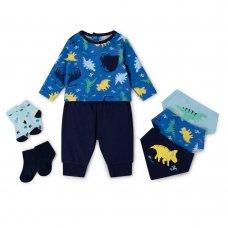 V21430:  Baby Boys Dinosaur 7 Piece Set (0-18 Months)