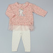 WF3781: Baby Girls Leopard Print 2 Piece Outfit (6-24 Months)